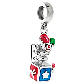 Chamilia Sterling Silver & Enamel Jack In The Box Charm Bead - Product number 5126975