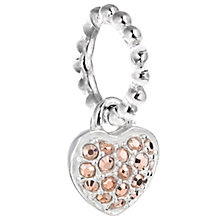 Chamilia Silver Rose Swarovski Petite Pave Heart Charm Bead - Product number 5127084