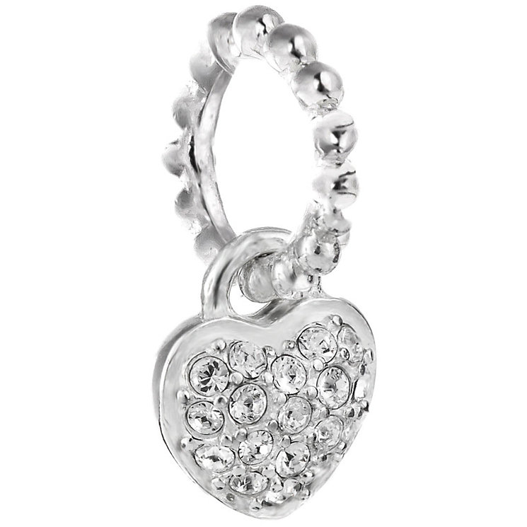 Chamilia Silver Swarovski Petite Pave Heart Charm Bead - Product number 5127092