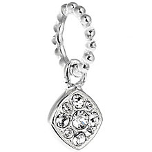 Chamilia Silver Swarovski Petite Pave Cushion Charm Bead - Product number 5127130