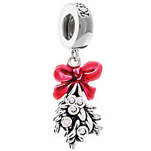 Chamilia Sterling Silver Swarovski Mistletoe Kiss Charm Bead - Product number 5127149