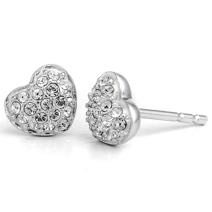 Chamilia Sterling Silver Swarovski Petite Heart Stud Earring - Product number 5127394