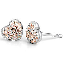 Chamilia Sterling Silver Swarovski Petite Heart Stud Earring - Product number 5127408