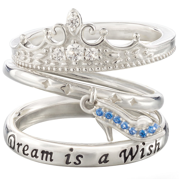 Chamilia Silver Disney Cinderella Stacker Ring Set Size XS - Product number 5127440
