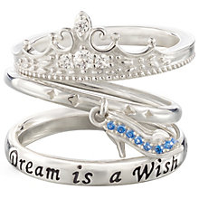 Chamilia Silver Disney Cinderella Stacker Ring Set Size S - Product number 5127459
