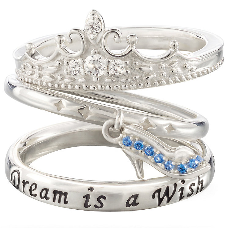 Chamilia Silver Disney Cinderella Stacker Ring Set Size L - Product number 5127491