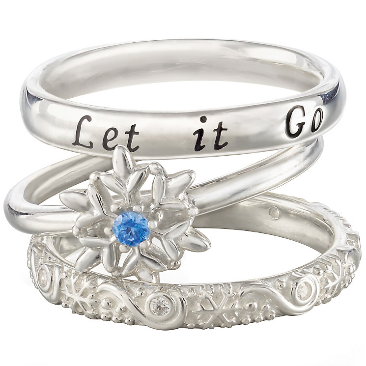 Chamilia Silver Disney Frozen Stacker Ring Set Size XS - Product number 5127556
