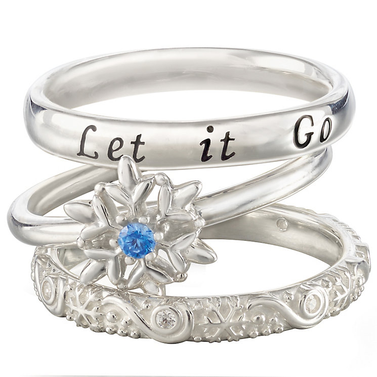 Chamilia Silver Disney Frozen Stacker Ring Set Size S - Product number 5127564