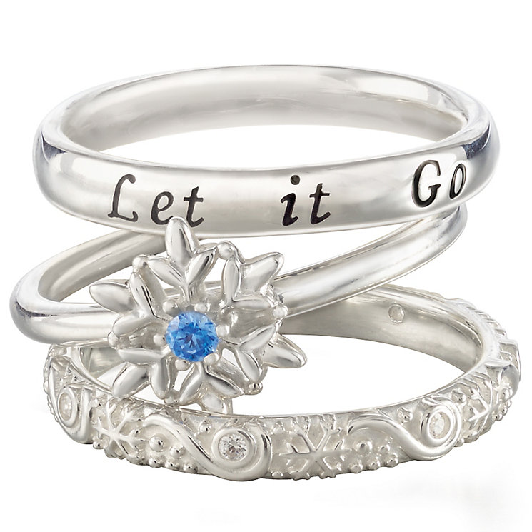 Chamilia Silver Disney Frozen Stacker Ring Set Size L - Product number 5127580
