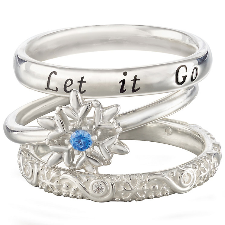 Chamilia Silver Disney Frozen Stacker Ring Set Size XL - Product number 5127599