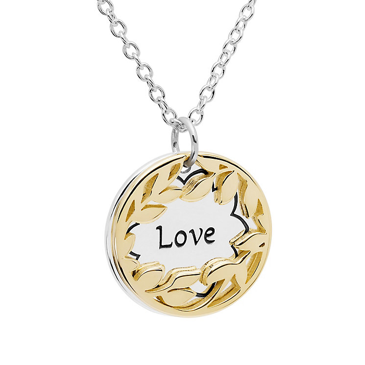 Chamilia Treasure Silver & Gold-Plated Love Necklace - Product number 5127769