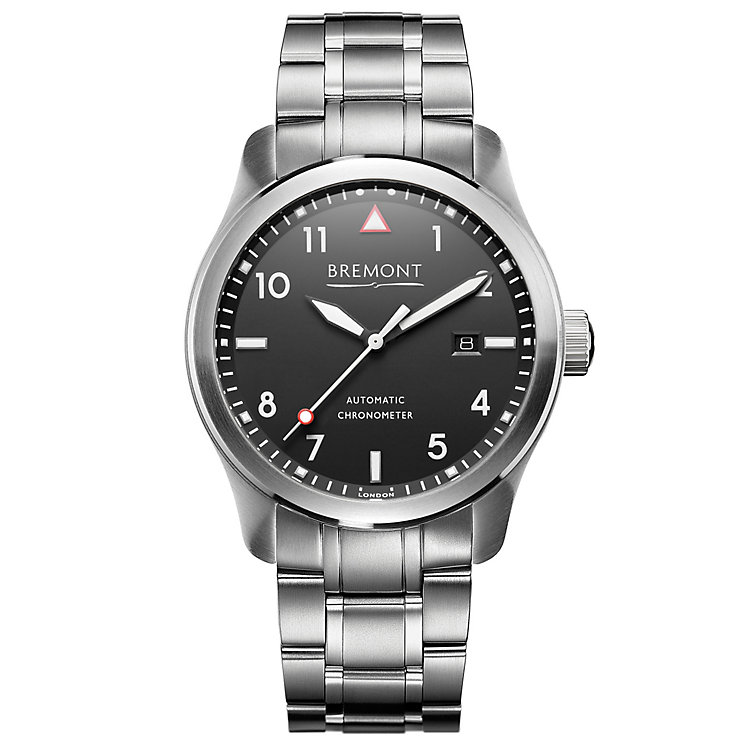 Bremont SOLO/WH Men's Stainless Steel Bracelet Watch - Product number 5129362