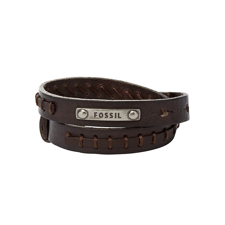 Fossil Brown Leather Cuff Bracelet - Product number 5129419
