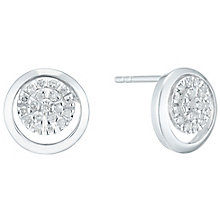 Sterling Silver 0.14 Carat Diamond Set Stud Earrings - Product number 5130352