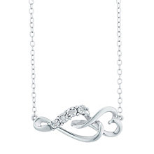 Sterling Silver Diamond Set Heart Pendant - Product number 5130409