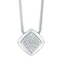 Sterling Silver Diamond Set Rhombus Pendant - Product number 5130670