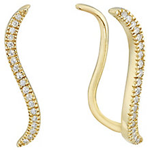 9ct Gold 0.10 Carat Diamond Ear Climbers - Product number 5130859
