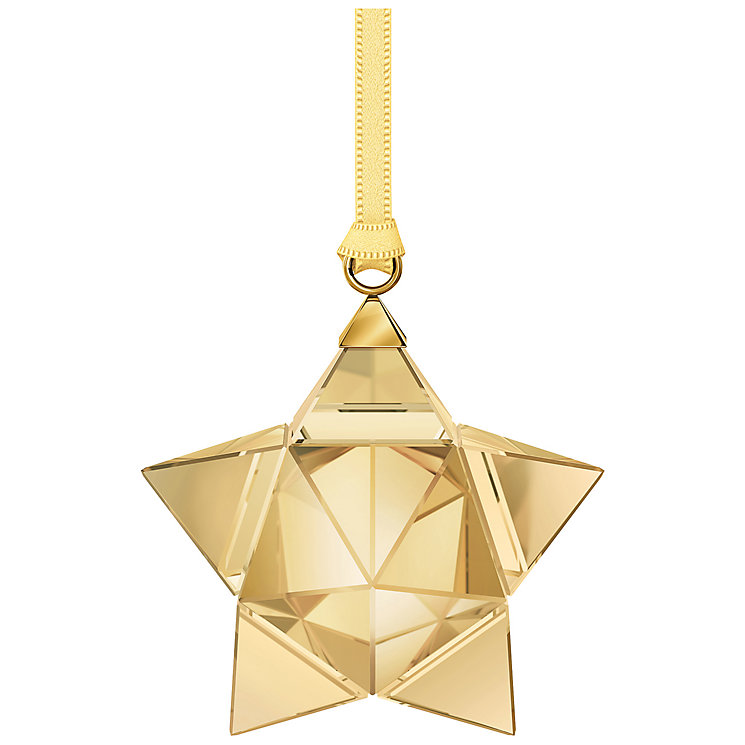 Swarovski Gold Tone Crystal Star Ornament - Product number 5131111