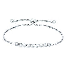 Silver Cubic Zirconia Adjustable Bracelet - Product number 5132398