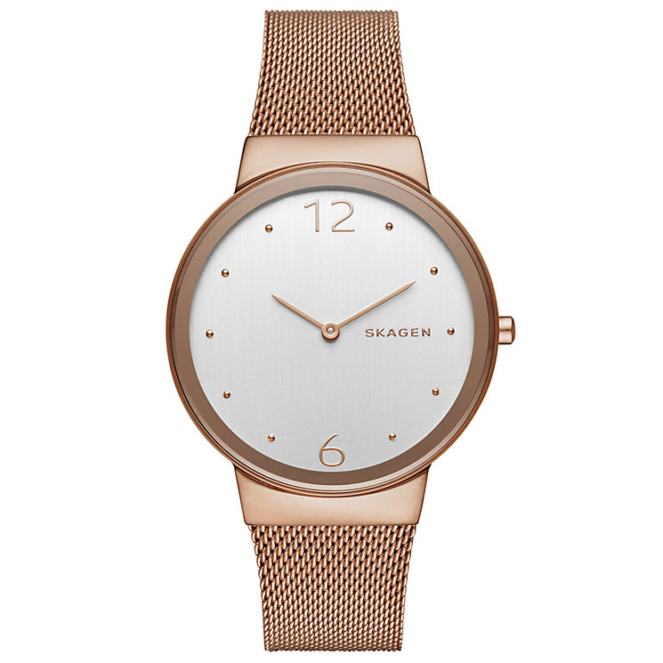 Skagen Freja Ladies' Rose Gold Tone Bracelet Watch - Product number 5133335