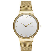Skagen Freja Ladies' Gold Tone Bracelet Watch - Product number 5133343