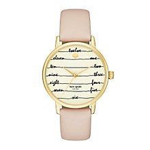 Kate Spade Metro Ladies' Gold Tone Strap Watch - Product number 5133823