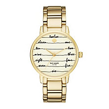 Kate Spade Gramercy Ladies' Gold Tone Bracelet Watch - Product number 5133831