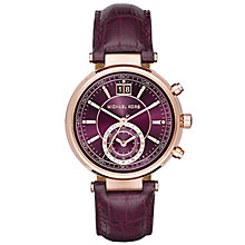 Michael Kors Sawyer Ladies' Rose Gold Tone Strap Watch - Product number 5134218