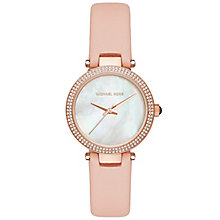 Michael Kors Mini Parker Ladies' Rose Gold Tone Strap Watch - Product number 5134226