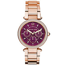 Michael Kors Parker Ladies' Rose Gold Tone Strap Watch - Product number 5134307