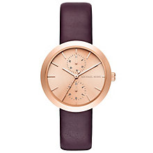 Michael Kors Ladies' Rose Gold Tone Strap Watch - Product number 5134315