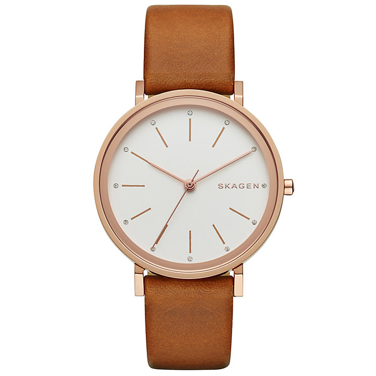 Skagen Hald Ladies' Rose Gold Tone Strap Watch - Product number 5134331
