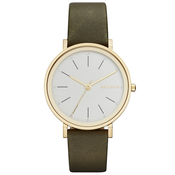 Skagen Hald Ladies' Gold Tone Strap Watch - Product number 5134358