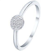 Sterling Silver Round Diamond Cluster Ring - Product number 5134366