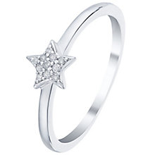Sterling Silver Diamond Set Star Ring - Product number 5134498