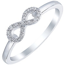 Sterling Silver Diamond Set Infinity Ring - Product number 5135117