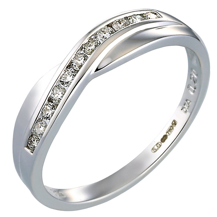 Bride's White Gold Diamond Ring - Product number 5135303