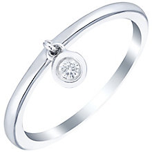 Sterling Silver Diamond Set Charm Style Ring - Product number 5137233