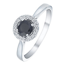Sterling Silver Sapphire & Diamond Ring - Product number 5141338