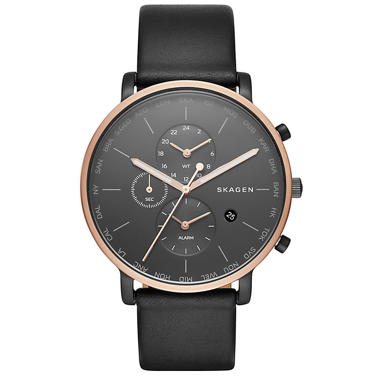 Skagen Hagen Men's Rose Gold Tone Strap Watch - Product number 5141516