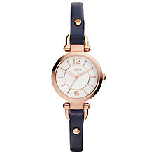 Fossil Georgia Ladies' Rose Gold Tone Strap Watch - Product number 5141583