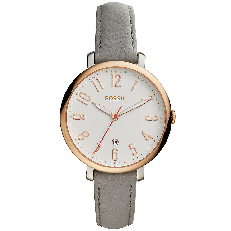 Fossil Jacqueline Ladies' Rose Gold Tone Strap Watch - Product number 5141591