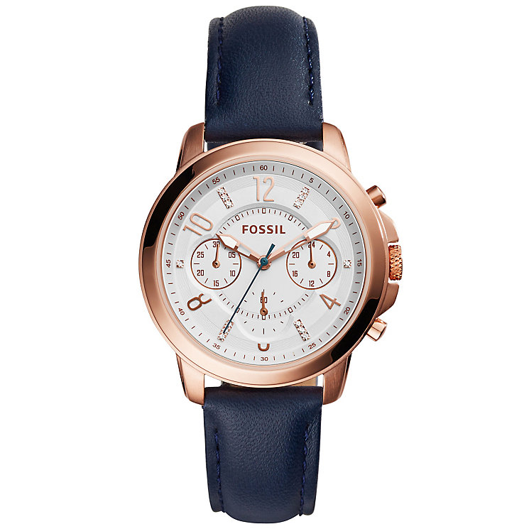 Fossil Gywnn Ladies' Rose Gold Tone Strap Watch - Product number 5141613
