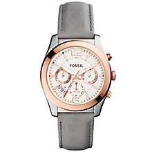 Fossil Perfect Boyfriend Ladies' Rose Gold Tone Strap Watch - Product number 5141656