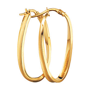 9ct Gold Creole Twist Earrings - Product number 5141672