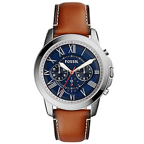 Fossil Grant Men's Stainless Steel Strap Watch - Product number 5141699