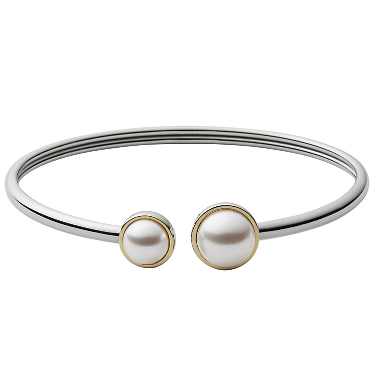 Skagen Agnethe Two Colour Faux Pearl Bangle - Product number 5141869