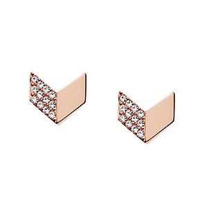 Fossil Rose Gold Tone Vintage Glitz Stud Earrings - Product number 5142261