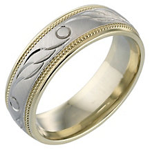 Men's 9ct Gold Diamond-cut Ring 6mm - Product number 5149762