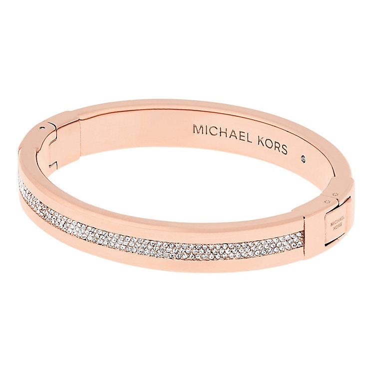 Michael Kors Ladies' Rose Gold Tone Stone Set bangle - Product number 5150698